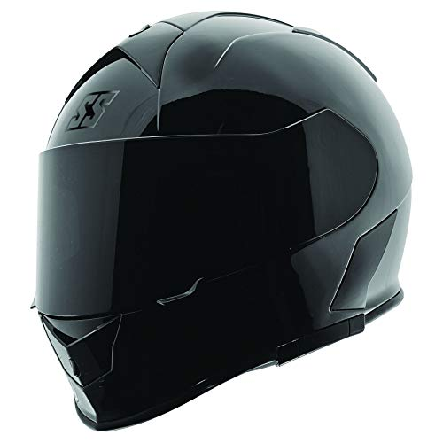 Speed and Strength SS900 Solid Adult Street Motorcycle Helmet - Gloss Black/Small