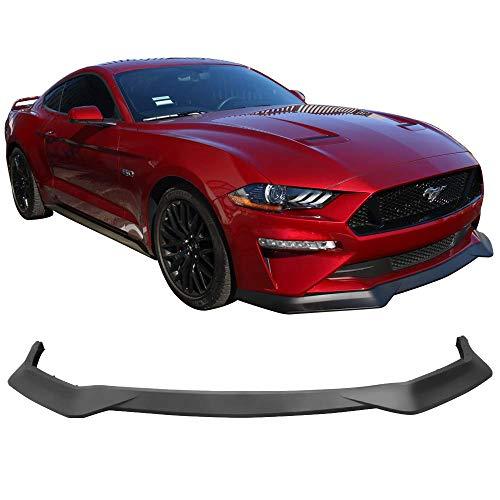 (Fits 18-19 Ford Mustang GT R Spec Unpainted PP Front Bumper Lip Splitter)