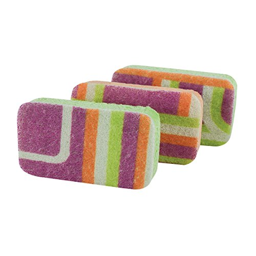 Casabella Cellulose Sponges Orange 3 Pack