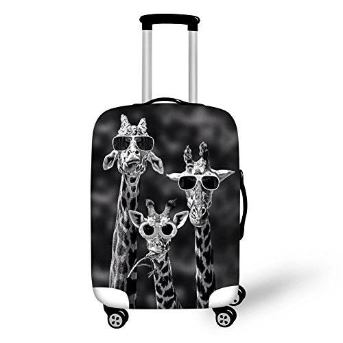 Dremagia Sunglasses Giraffe Funny Luggage Covers Suitcase Cover for 18-21 Inch Trolley Case Protectors Travel…