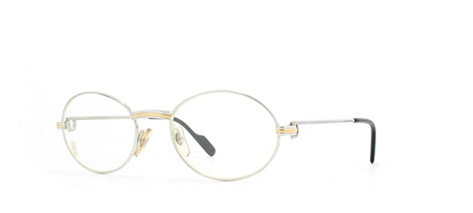 742458b14d58 Image Unavailable. Image not available for. Colour  Cartier St Honore  T8100.266 PLT Silver Certified Vintage Oval Eyeglasses ...