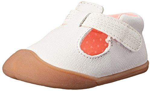 Carter's Every Step Amy Stage 1 Crawl Walking Shoe (Infant), White, 3 M US Infant