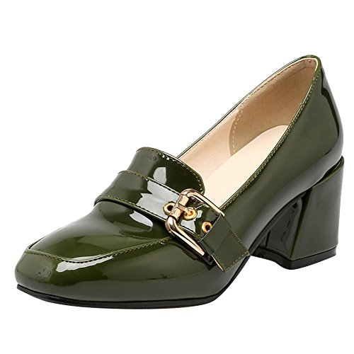 cuadrada Heel Chic con Slip Green Shoes punta mujer Mid Court On Mee para Shoes Yqan1