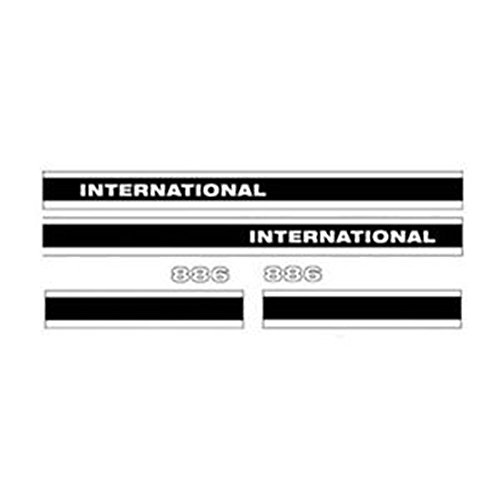 I886C International Tractor Hood Decal Set 886 W/ CAB