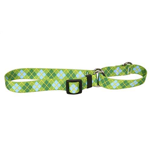 Yellow Dog Design Martingale Slip Collar, Lime Green Argyle, Small - Slip Argyle