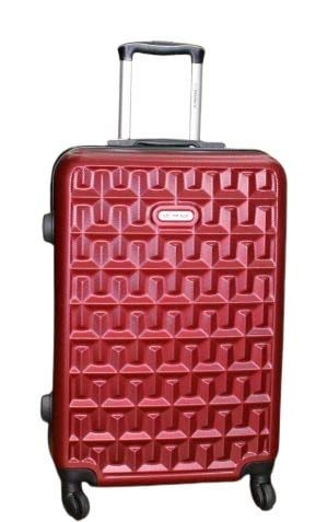 Princeware Trolley Luggage Suitcase Trolley/Travel/Tourist Bag  Color : Red, Size : Medium   5 Years International Warranty