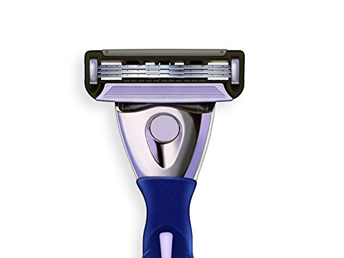 The Ultimate Shave Men's 3-blade Razor and Bulk Pack of 15 Razor Blade Refill Cartridges and a Shaving Razor Handle