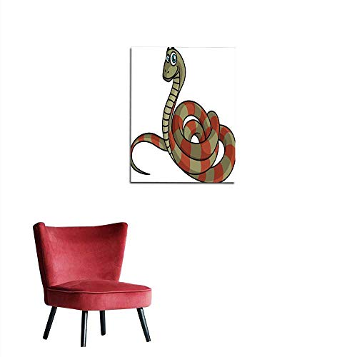 longbuyer Photo Wall Paper Cartoon Striped Snake Mural 24