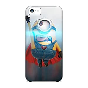 New Design Shatterproof QDp8168CXEv Cases For Iphone 5c (minion Superman)