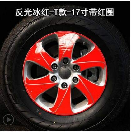 Red colors Shiny 17 Inch Rims Wheel Stickers for Great Wall Haval H9 BA036A  (color Name  Powder)