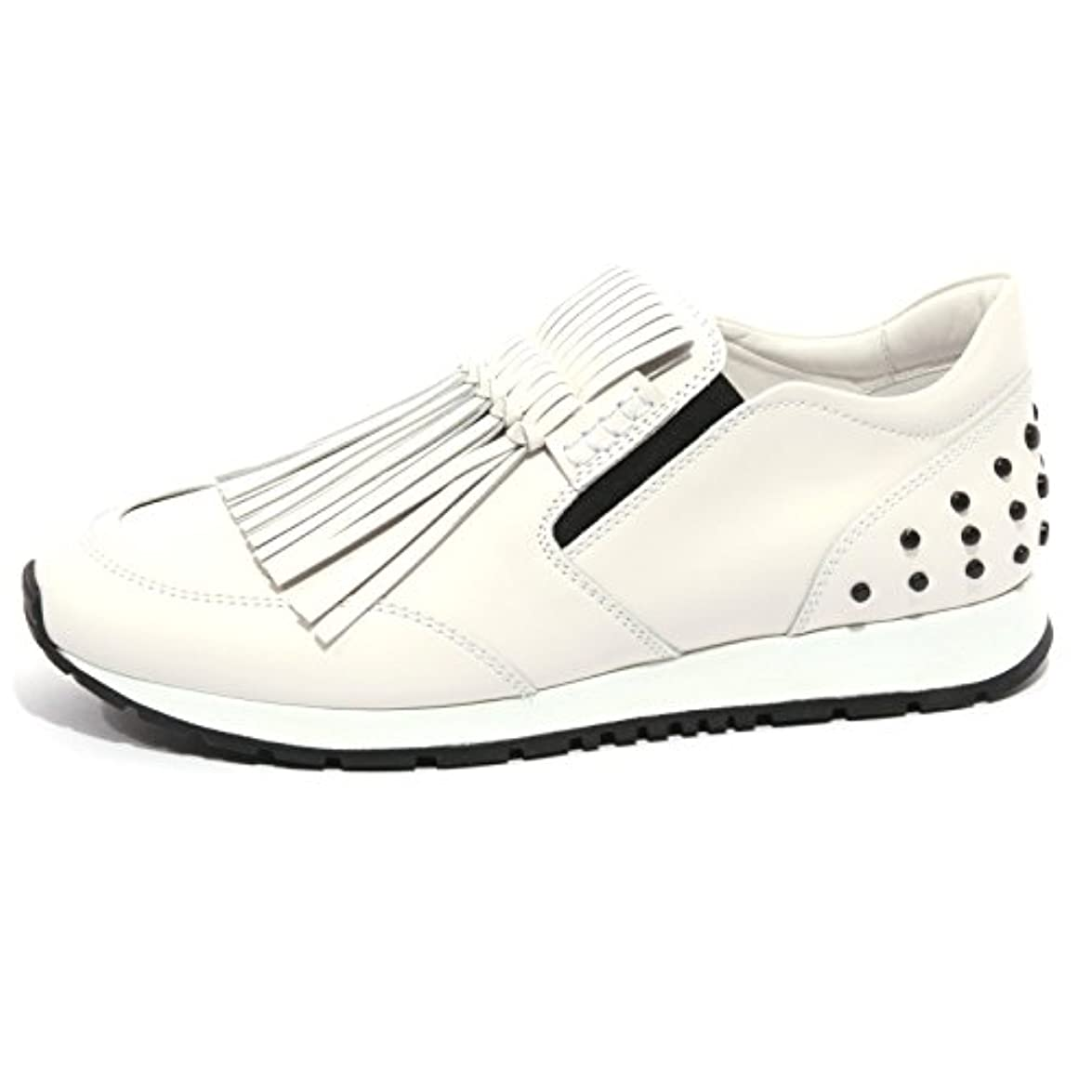 Tod's B1269 Sneaker Donna Scarpa Sportiva Frangia Bianco Shoes Women