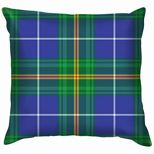 (Nova Scotia Tartan Element Construction Vintage Throw Pillows Covers Accent Home Sofa Cushion Cover Pillowcase Gift Decorative 12X12 Inch )