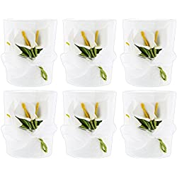 Set of 6 Fashioncraft Calla Lily Candle Holders with Tea Light Candles