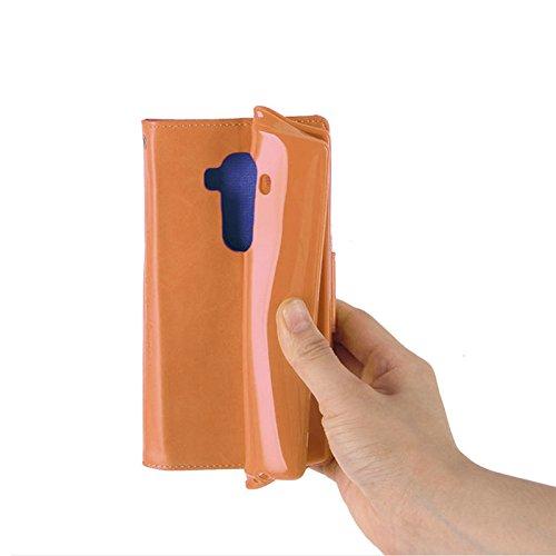 Funda Lona Galaxy A8 / A8 Plus 2018 Canvas Diario Flip Cover [Ranura para Tarjeta Wallet] Funda de Silicona Soft Magnet Hebilla [Bookstyle con Video Stand Function] para Samsung (Galaxy A8 2018, Gris) Azul