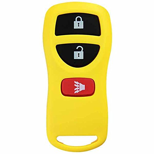 KeylessOption Yellow Replacement 3 Button Keyless Entry Remote Control Key Fob Compatible with KBRASTU15
