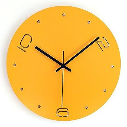 OLILEIO Casa Salón Dormitorio Moda Minimalista Moderno Personalidad Creativa Reloj Digital de Cuarzo Reloj de Pared