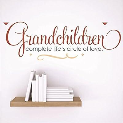 "Design with Vinyl RAD 42 1 Decor Wall Decal Sticker : Grandchildren Complete Life's Circle Of Love Quote, 5 x 24"""