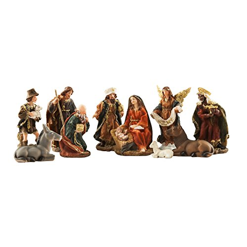 BRUBAKER Christmas Decoration Nativity Set - 5 Inch Nativity Set 11 Figurines in Real Life Nativity Set