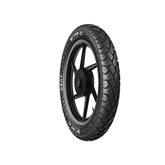 Ceat Gripp X3 Tt 3.00-17 50P Tube-Type Bike Tyre, Rear