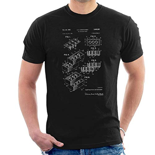 Lego Brick Patent Blueprint Men's T-Shirt