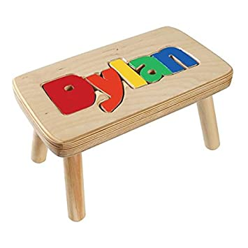 Cool Personalized Name Puzzle Stool 1 12 Letters Natural Stool Primary Letters 1 Name Only Ocoug Best Dining Table And Chair Ideas Images Ocougorg
