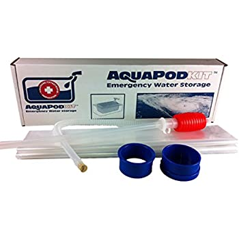 Emergency Drinking Water Storage by AquaPodKit - Made in America (Deluxe Set Containing 195 Gallons)