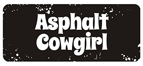 Large 5'' Sticker - Asphalt Cowgirl Hard Hat Biker Helmet Stickers - Construction Toolbox, Hardhat, Lunchbox, Helmet, Mechanic & More ()