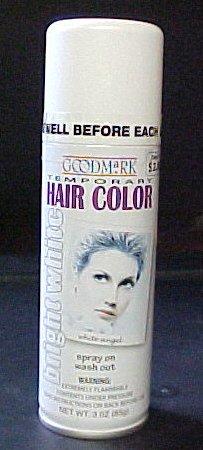 Hair Spray On Makeup (Goodmark Temporary Hair Color (Bright White) 3oz. Spray)