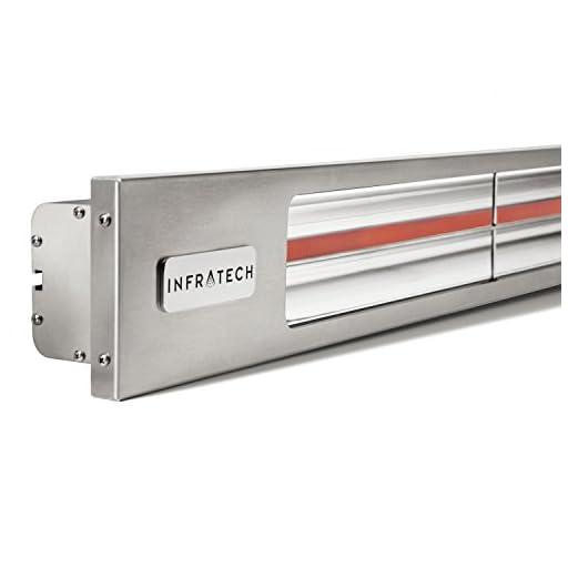 Infratech SL4024SV Slim Line - Single Element 4,000 Watt Patio Heater, Choose Finish: Stainless Steel Faceplate w/Silver Trim