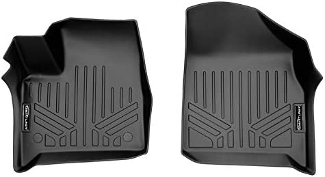 MAXLINER All Weather Custom Fit 1st Row Black Floor Mat Liner Set Compatible With 2018-2021 Chevrolet Traverse