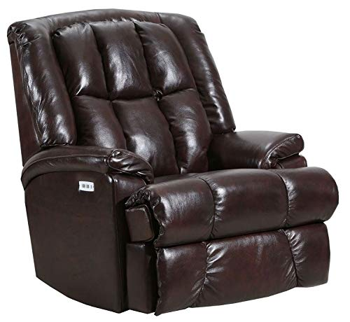 (Lane Clint Big Man Comfort King Wallsaver (Power Recline) Recliner in Chestnut (Leather/Vinyl). Rated for Weights of Up to 500 Lbs. Built As Heavy As The Lane Stallion Recliner. 4503.)