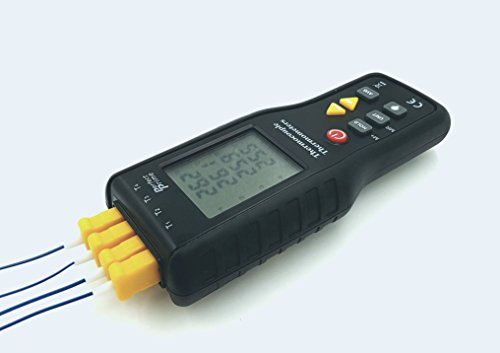Prime Type (Perfect-Prime TC41, 4-Channel K-Type Digital Thermometer Thermocouple Sensor -200~1372°C/2501°F, 20 x 4 Data Log Storage Function)