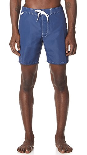 Sundek Men's Classic 17'' Fixed Waist Swim Short, Navy/Red White Blue, 34 by Sundek