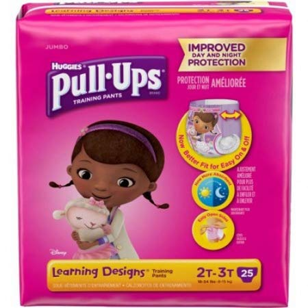 51323104 Toddler Training Pants Pull-Ups Learning Designs Pull On 2T - 3T Disposable Heavy Absorbency