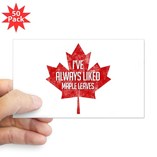 CafePress - Always Liked Maple Leave - Sticker (Rectangle 50 pk) by CafePress