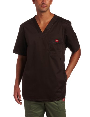 - Dickies Men's Big and Tall Generation Flex Youtility Scrub Top, Chocolate, 4X-Large