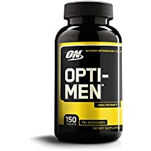 OPTIMUM NUTRITION Opti-Men, Mens Daily Multivitamin Supplement with Vitamins C, D, E, B12, 150 Count
