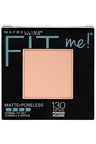 Maybelline New York Fit Me Matte + Poreless Powder Makeup, Buff Beige, 0.29 oz.