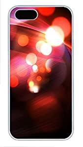 iPhone 5 5S Case Abstract Red Bokeh 13 PC Custom iPhone 5 5S Case Cover White