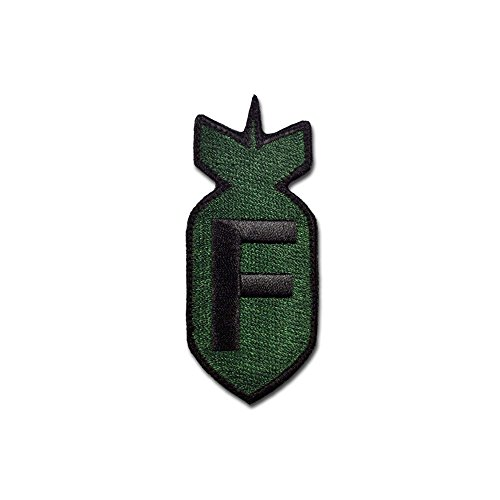 (Bastion Tactical Combat Badge Military Hook and Loop Badge Embroidered Morale Patch - F Bomb ODG)