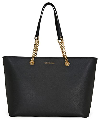MICHAEL Michael Kors Women's Chain Travel Tote, Black, One Size by Michael Kors