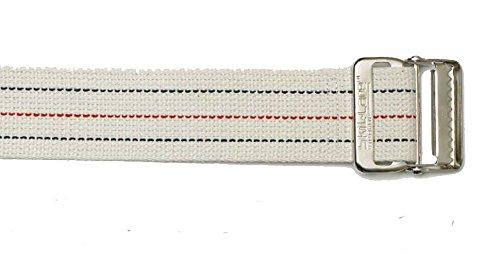 SkiL-Care Pinstripe Gait Belt, Bariatric, 72 inches, Metal