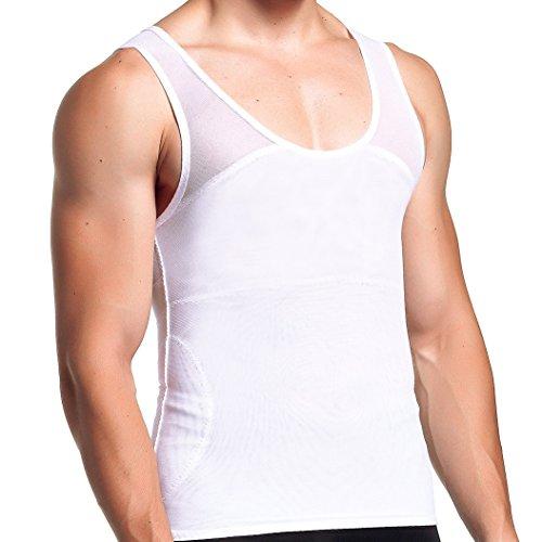 4088e84529 GKVK Mens Compression Shirt to Hide Gynecomastia Moobs Chest Slimming Tank  Top Body Shaper Undershirt
