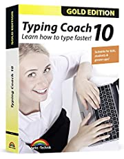 Typing Coach 10 - typing software for adults, kids and students - learn how to type faster in 2020 - computer program - compatible with Win 10, 8.1, 7