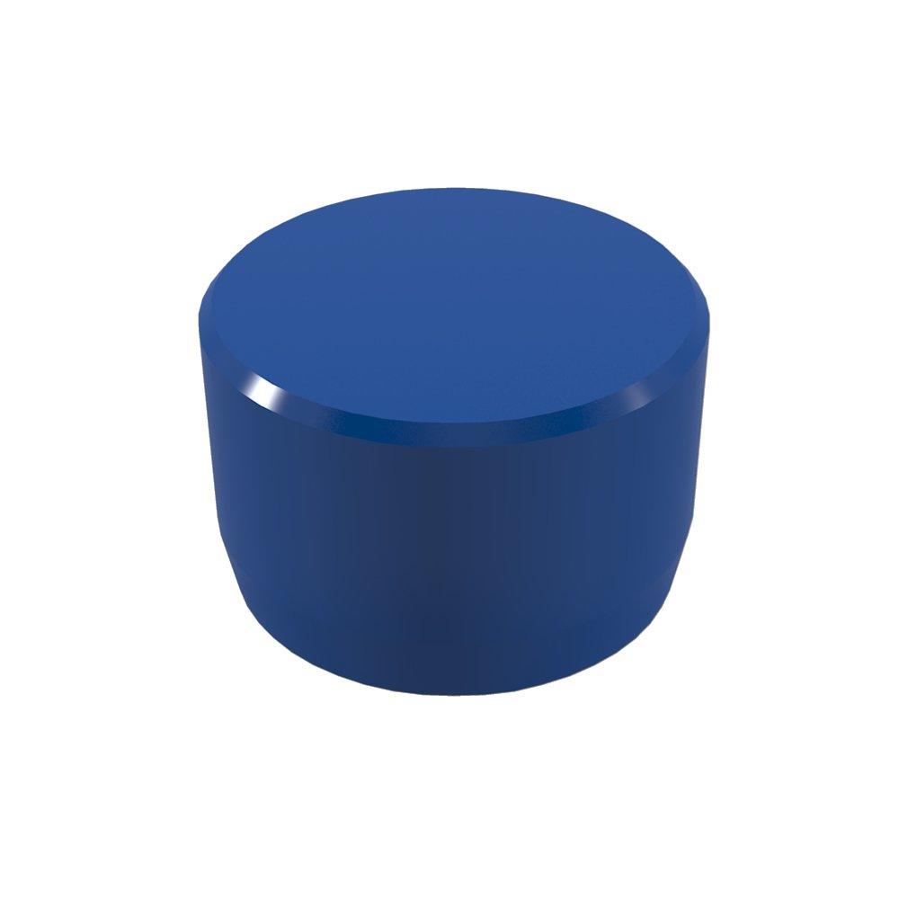 FORMUFIT F001EEC-BL-10 PVC External End Cap, Furniture Grade, 1'' Size, Blue (Pack of 10)