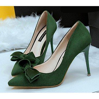 Black Heel Red 7 5 Green Casual 5 US6 UK4 Fleece Stiletto 5 Women'sSpring Khaki EU37 CN37 pFqIqt