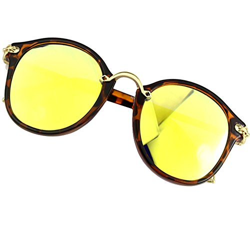Sumery Vintage Retro Round Lens Delicate Arm Sunglasses Women UV400 4PCS (Hawksbill, - Versace Gaga Sunglasses Lady