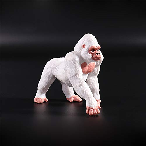 Ocamo Zoo Mini Wild Animals Action Figures Figurines Kids Toys as Children Gift Albino Gorilla -