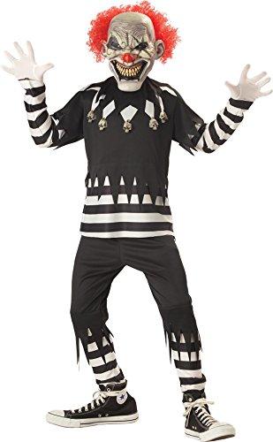 Clown Costumes (Creepy Clown Boy's Costume, Medium, One)