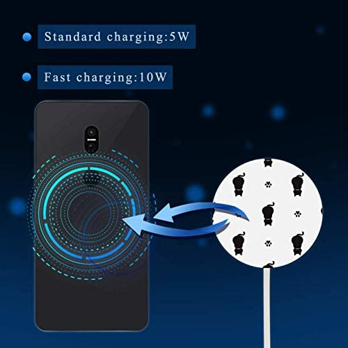 MUOOUM Cat-And-Paw Snelle draadloze oplader, Draadloos opladen Pad 10W Unibody Fast Charging Pad Compatibel voor iPhone, airpods of een Qi enabled Smartphone